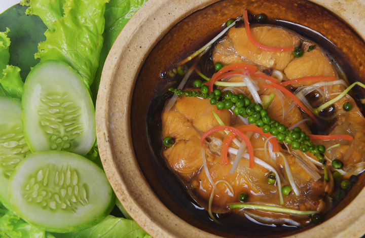 Claypot pangasius portions