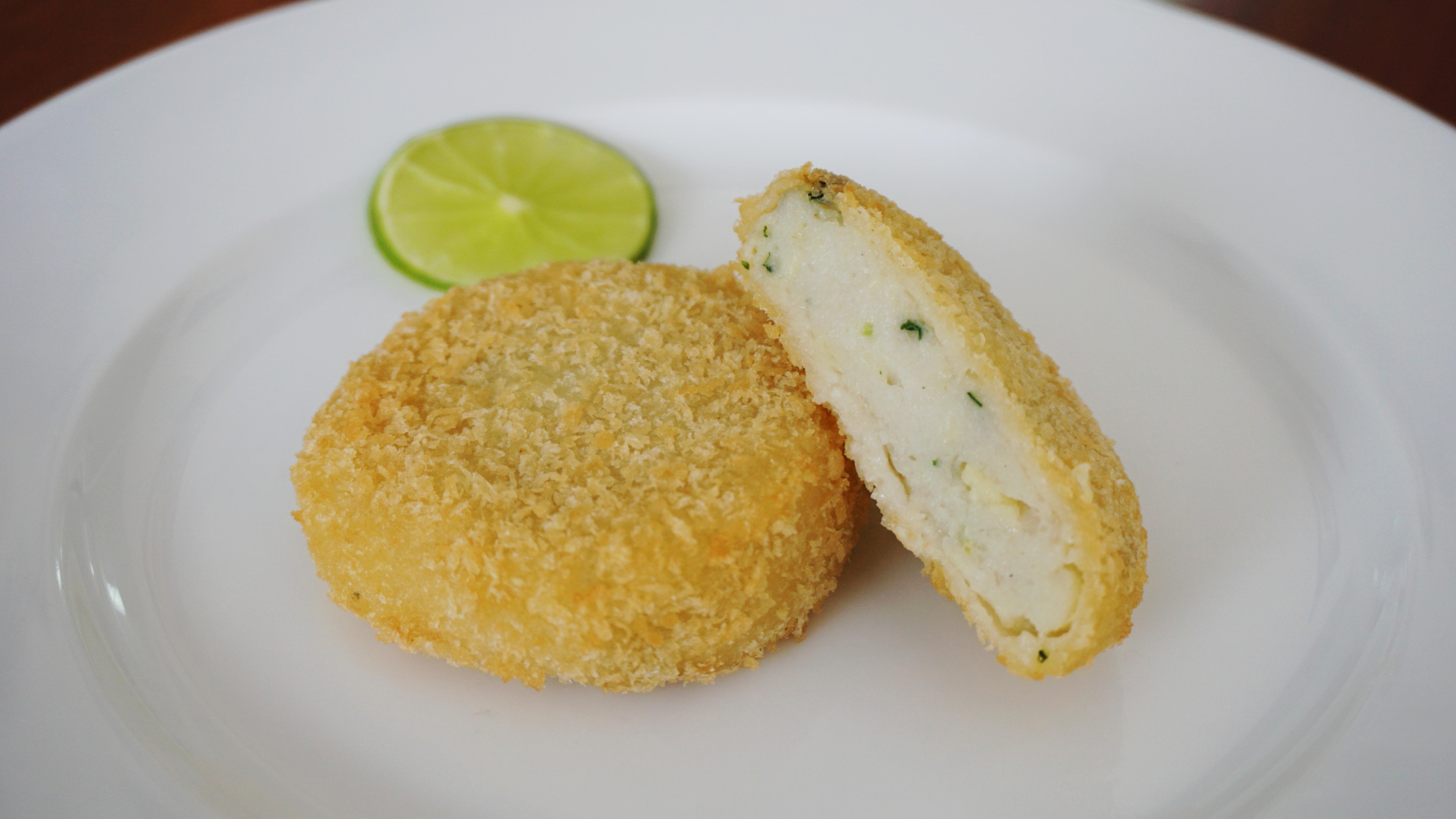 Breaded seafood filling